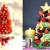 Як зробити ялинку з фруктів