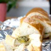 Часниковий хліб із зеленню