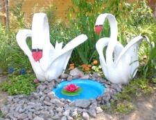 Як зробити лебедя з покришки своїми руками