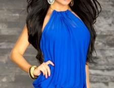 Коротке синє плаття