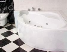 Нестандартна кутова ванна з литого акрилу