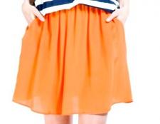 З чим носити помаранчеву спідницю