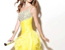Вечірня сукня жовтого кольору