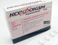 Препарат Ксефокам: інструкція із застосування