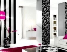 Чорно-білі шпалери в інтер'єрі - для любителів гострих відчуттів